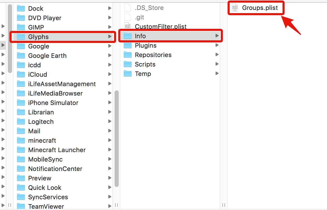 この場所に「Groups.plist」を保存してください。